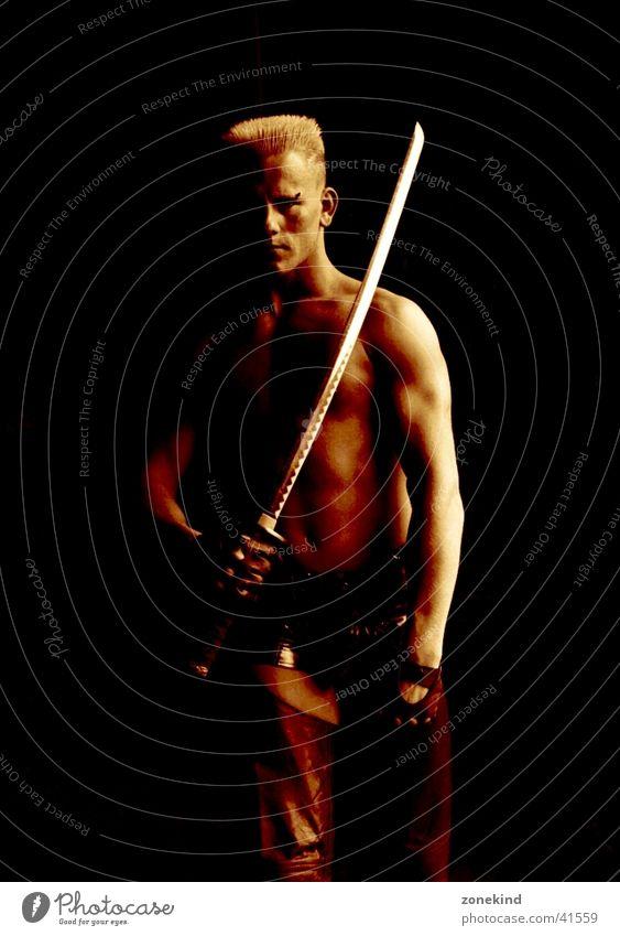 Man Dark Brown Weapon Sword