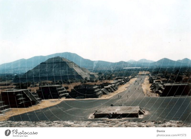Teotihuacan Panoramic View (Pyramids of Teotihuacan) near Mexico D.F