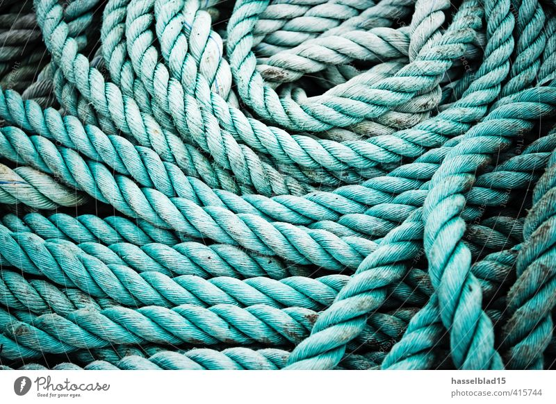 rope Sailing Vacation & Travel Summer vacation Aquatics Rope Utilize Wild Heap Muddled Green Structures and shapes Abstract Knot Colour photo Subdued colour