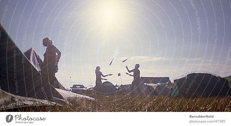 juggle Juggle Camping Back-light Silhouette Acrobat Sun interplay