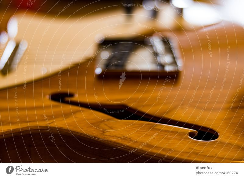 Wooden board with hole Guitar Egg guitar Musical instrument Leisure and hobbies Musical instrument string String instrument Sound Electric Close-up Make music