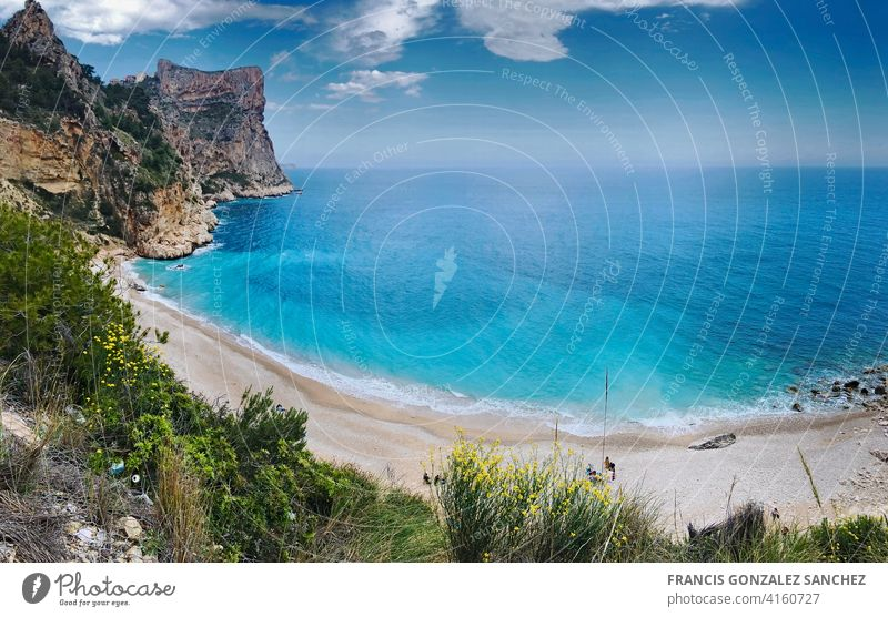 Creek of the Moraig in Benitatxell, Alicante province. Panoramic Coastline tropical climate ocean vacation Travel body of water travel destinations coast