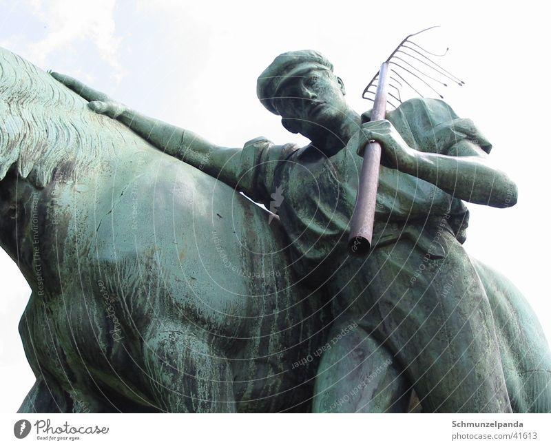 Horse Leisure and hobbies Farmer Sculpture Münster North Rhine-Westphalia Communist