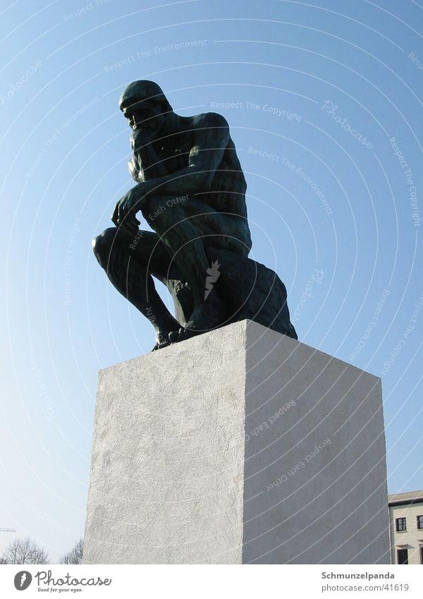 Berlin Art Leisure and hobbies Sculpture Philosopher Pedestal Musée Rodin