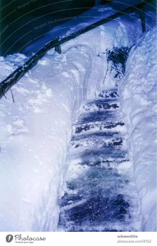 sweaty winter Winter Snow Stairs
