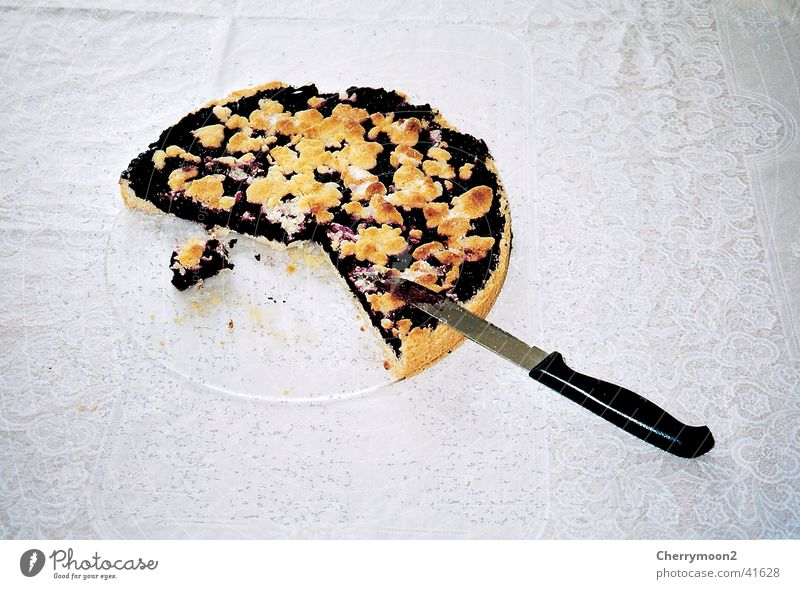 blueberry pie Cake Gateau Granules Table Delicious Nutrition Knives Part Blueberry Cooking Partially visible