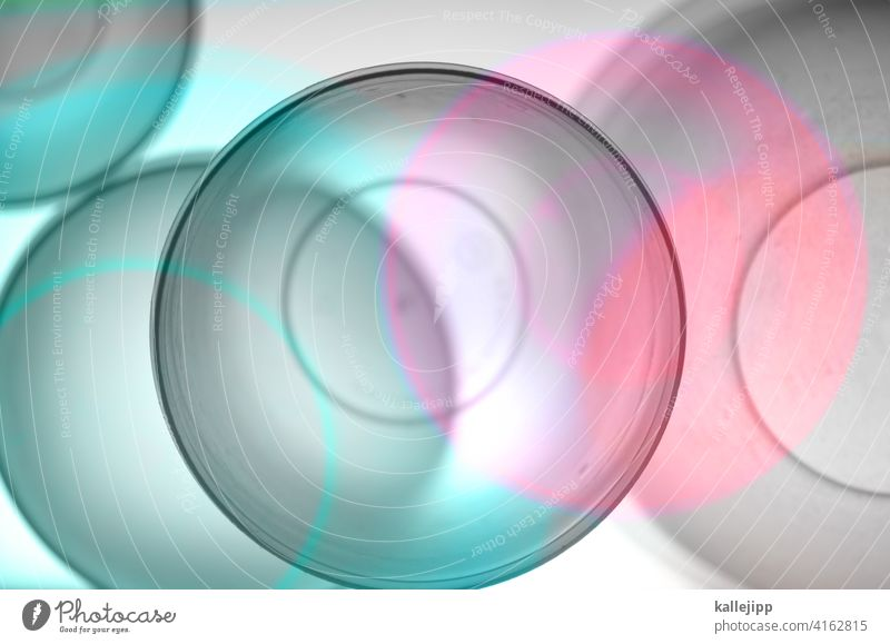 tupper Tupperware bowl Abstract circles Circle cutting quantity transparent Colour photo Pattern Light Multicoloured Experimental Structures and shapes Design