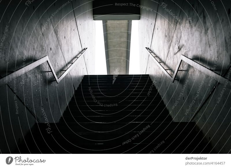 Stairway to nowhere in Berlin Structures and shapes architectural photography architecture Central perspective Deep depth of field Symmetry Seat of government