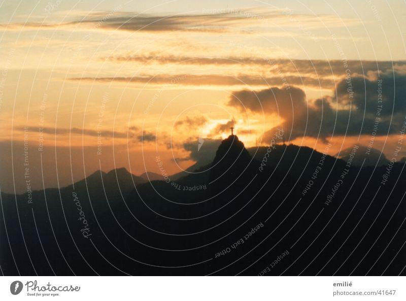 corcovado Corcovado-Botafogo Rio de Janeiro Dusk Clouds Longing Calm South America Sky Peaceful patron saint