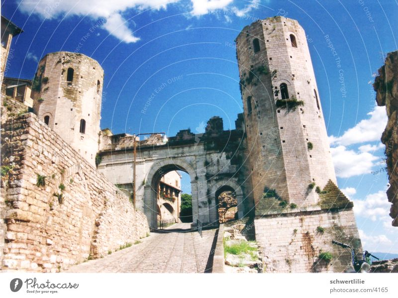 Spello Italy Roman gate Gate Tower