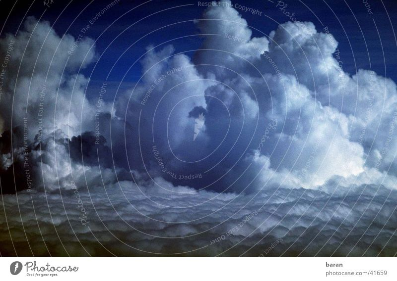 Human being Clouds Weather Flying Cumulus