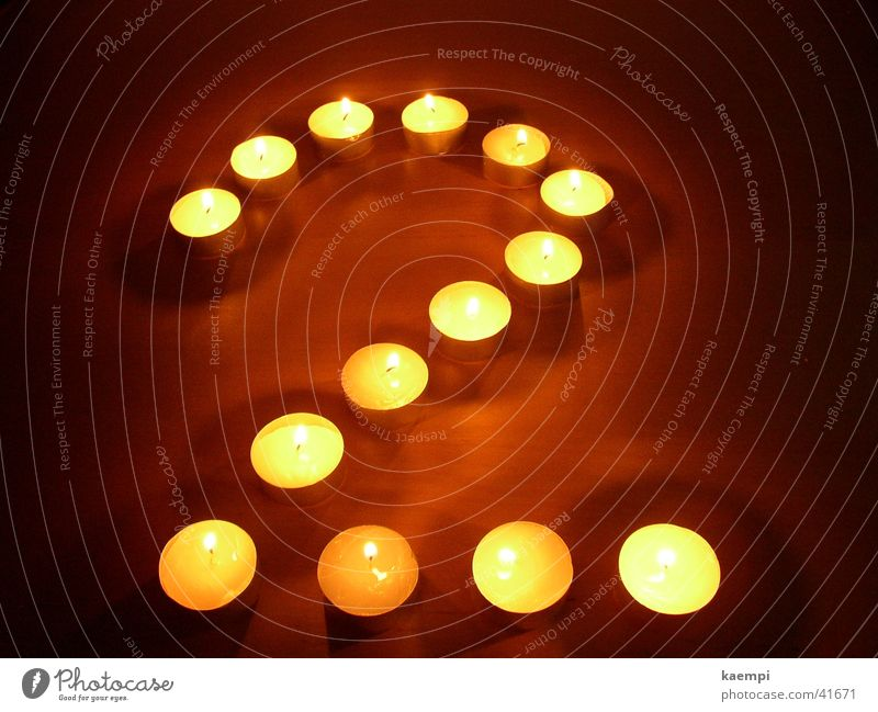 two Light Candle Digits and numbers Bright Leisure and hobbies Warmth Light (Natural Phenomenon)