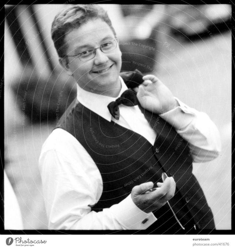 Man Joy Laughter Style Art Elegant Culture Joie de vivre (Vitality) Suit Clock Easygoing Bow tie Tuxedo Fob watch