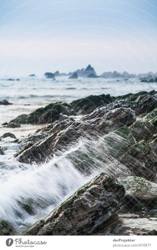 Sky Nature Water Summer Ocean Landscape Beach Environment Emotions Coast Sand Rock Horizon Moody Air Waves