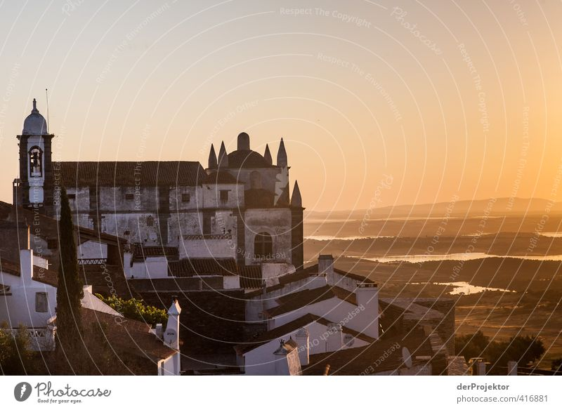In the morning at six in Monsaraz - Alentejo - Portugal Small Town Old town Deserted House (Residential Structure) Church Castle Manmade structures Building