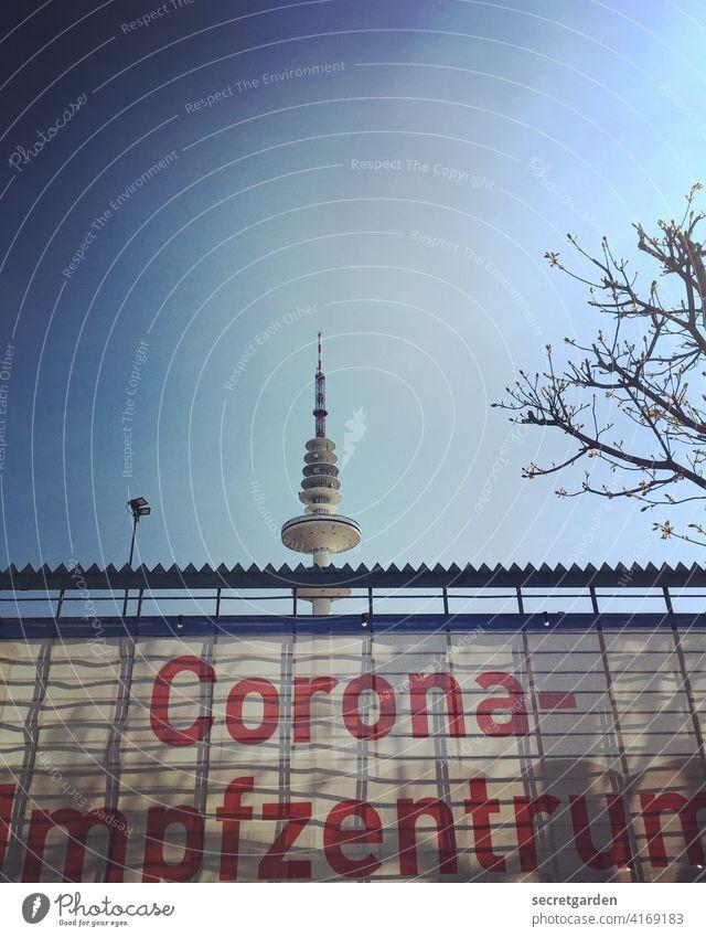 Corona-mpfzentrun coronavirus Television tower Hamburg pandemic Virus Healthy Protection Risk of infection Contagious Quarantine covid-19 Health care Epidemic