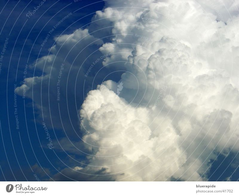 Cloudy Cumulus Clouds White Absorbent cotton Soft Easy Airy Blue Sky