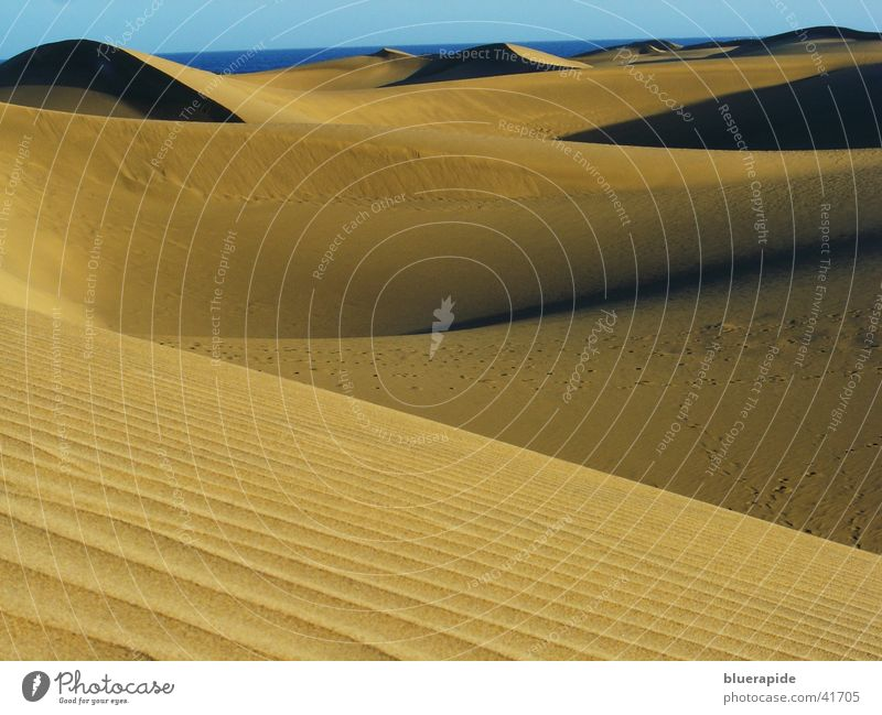 Yellow Sand Waves Desert Hill Beach dune Grain of sand