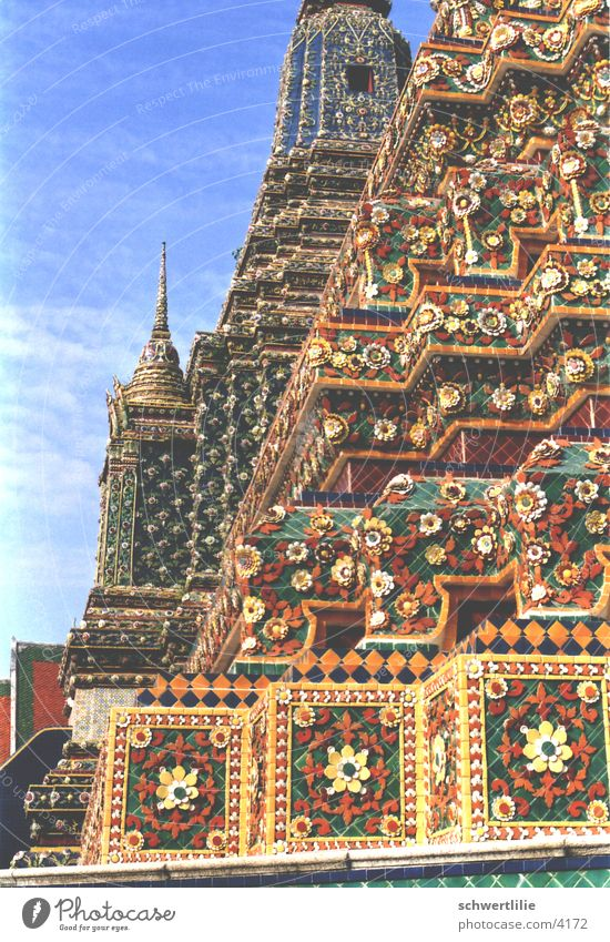 Temple Thailand Roof Multicoloured Jewellery