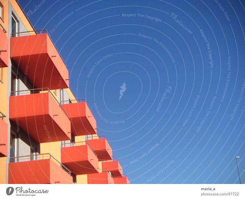 Sky House (Residential Structure) Architecture Balcony Blue sky Residential accommodation Student accommodation