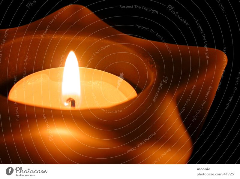 candle Candle Light Calm Safety (feeling of) Things Star (Symbol) Warmth