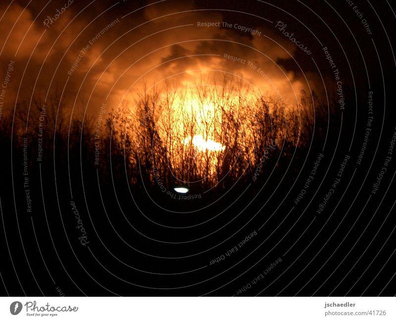 Bottrop at night Refinery Industry The Ruhr Blaze