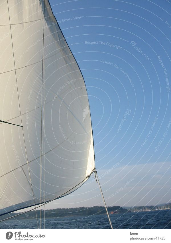 fresh breeze Vacation & Travel Ocean Sailing Sailboat White Calm Relaxation Europe Sweden Water Blue Nature