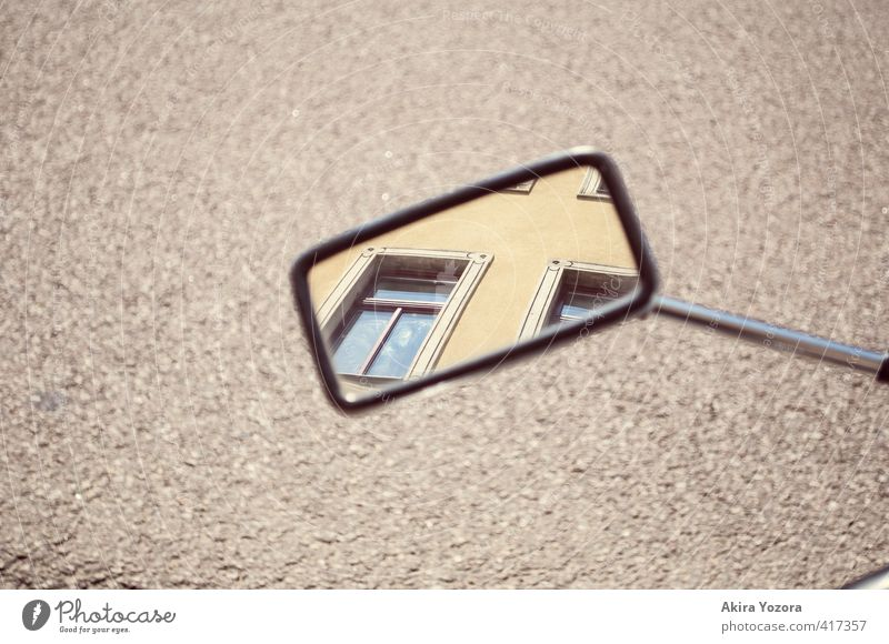 consideration House (Residential Structure) Building Facade Window Mirror Observe Discover Looking Responsibility Attentive Street Exterior shot Deserted