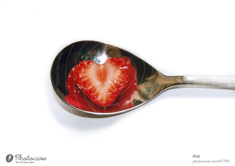Love Heart Strawberry Spoon Cutlery