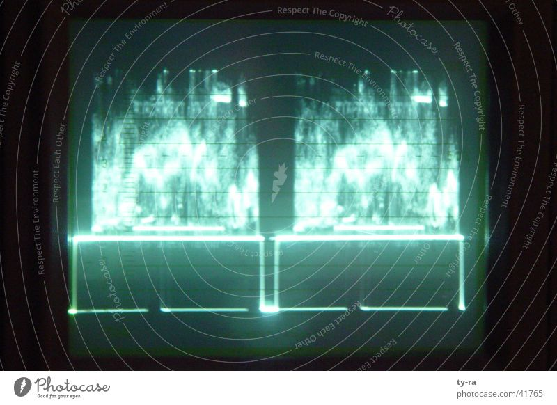oscilloscope Swing Green Television Electrical equipment Technology avid editing suite postproduction Photography