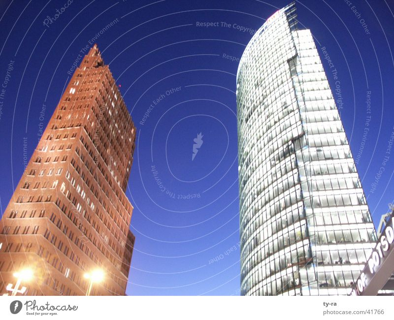 Sky Berlin Building Lighting Architecture High-rise Railroad Dusk Potsdamer Platz
