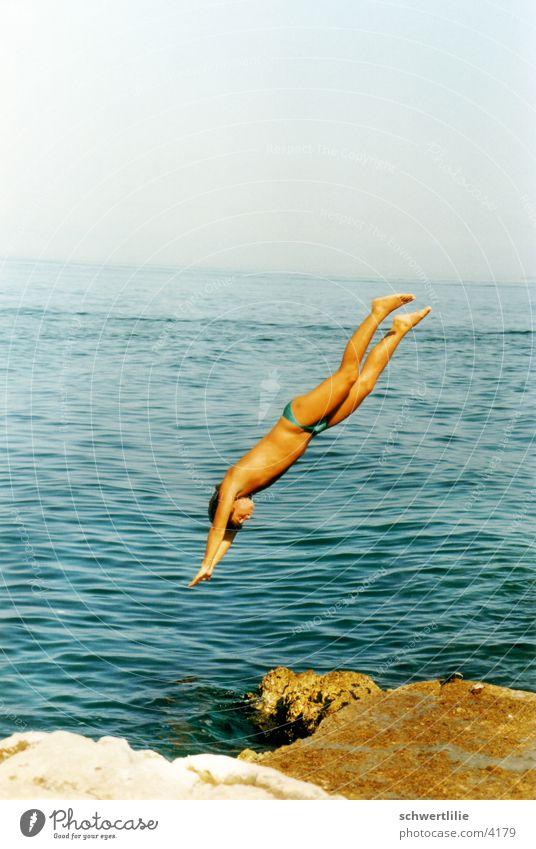 Human being Water Ocean Jump