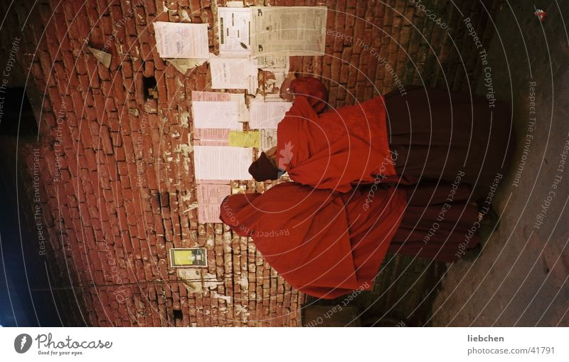 Human being Wall (building) Wall (barrier) Religion and faith Poster Monk Nepal