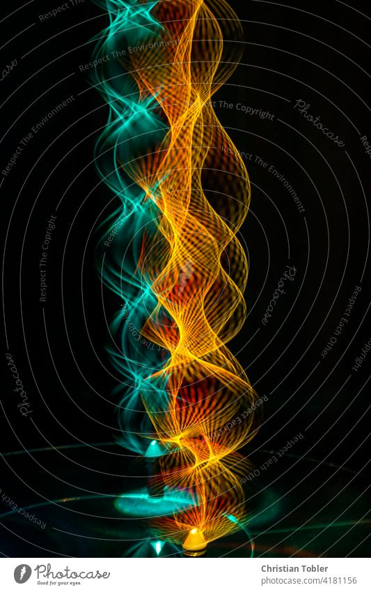 Light vibrations Abstract Dynamics Energy Experimental colors Fire Long exposure Visual spectacle Pattern Spiral Waves Light (Natural Phenomenon) Colour photo