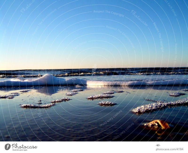 Water Sky Sun Ocean Beach Waves Foam