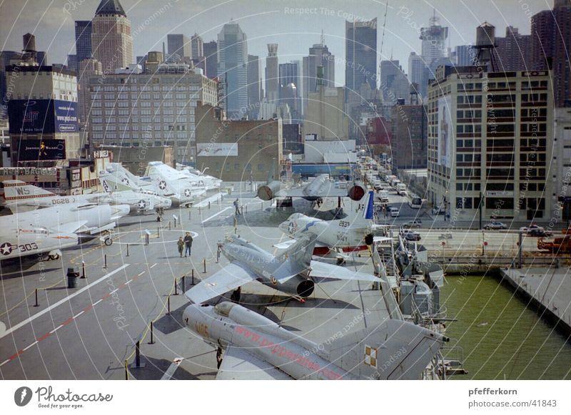Aircraft carrier large Manhattan New York City Watercraft