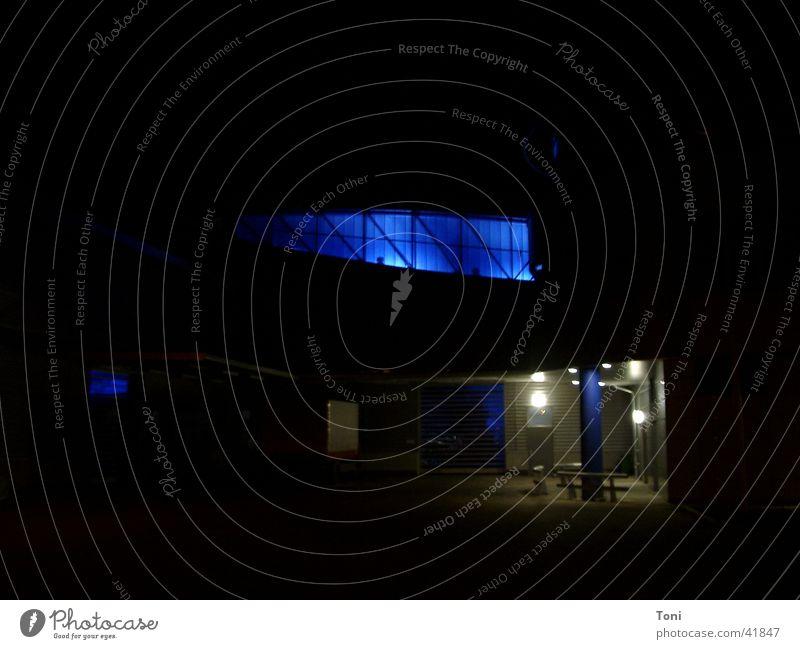 blue Light Night Architecture