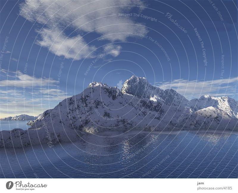mountain world Lake Mountain Snow