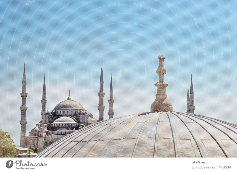 Beautiful Religion and faith Elegant Beautiful weather Church Landmark Tourist Attraction Turkey Istanbul Islam Mosque Minaret Blue Mosque Hagia Sophia