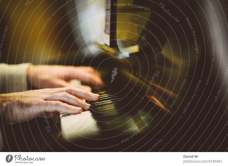 Practice makes perfect - playing the piano Piano hands Musician Sound Art Artist Culture Pianist tool Classical Playing Artistic