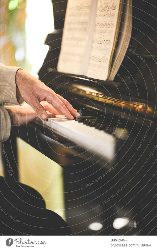 Pianist - Man playing piano Piano Playing notes Musician Passion devotion Emotions Musical instrument Emotionally Culture hands