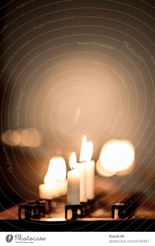 Calm and silence - Faith and religion Belief tranquillity silent Hope candles Burn cauterizing Warmth Light Illuminate Candlelight