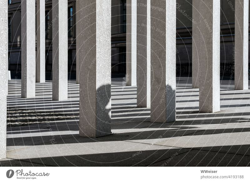 The shadows on Museum Island tell their own stories columns Shadow lines Architecture Manmade structures Building Historic Tourism Empty people Exterior shot