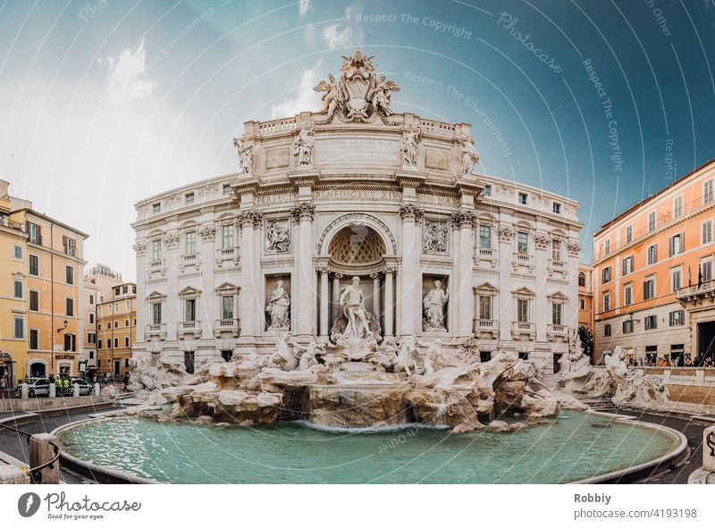 Fontana di Trevi in Rome Trevi Fountain Well Italy Tourism vacation Sightseeing City tour City holiday Ancient tourist magnet