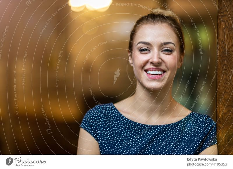 Smiling woman in the office looking at camera girl people Entrepreneur business businesswoman successful professional young adult female lifestyle indoors
