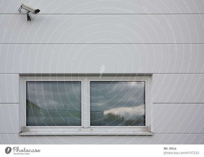 surveillance camera Building Facade Wall (building) Observe Video camera Safety Police state Video surveillance Surveillance camera house wall Testing & Control