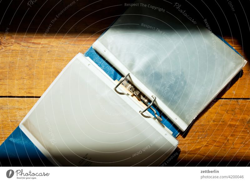 File folder with transparent pockets transparent cover Arrangement Stapler Office bureaucracy clip folder Folder Event accounting classification Categorized