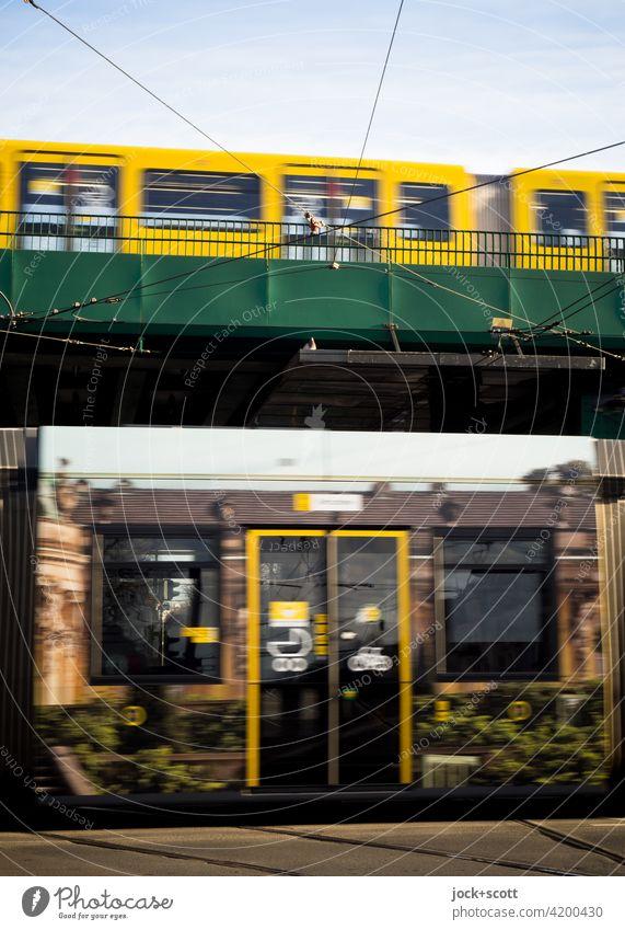 public transport of tram and underground Public transit Traffic infrastructure Means of transport Rail transport Schönhauser Allee Prenzlauer Berg Mono rail