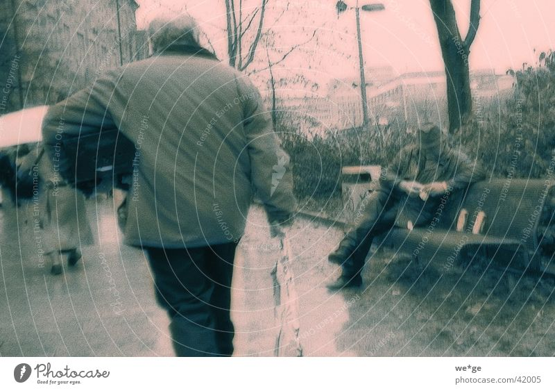 rainy day Park bench Town Pedestrian Human being Bad weather Weather