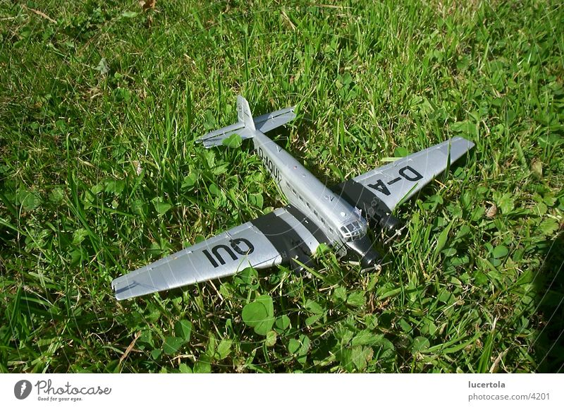 Ju 52 on grass track Airplane Grass Green Things Pattern